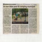 Article du Journal La Montagne Bilan saison 2014