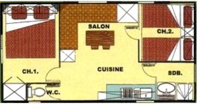Plan du Mobil Home