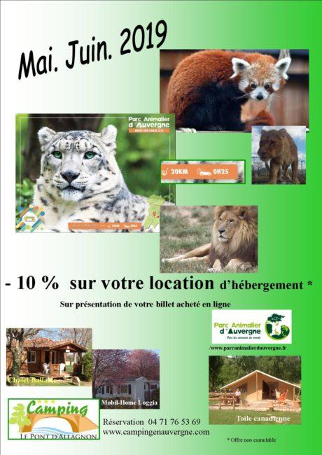 Parc Animalier d'auvergne Camping le pont d allagnon