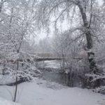 neige au camping en auvergne