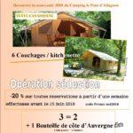 pormotion camping auvergne